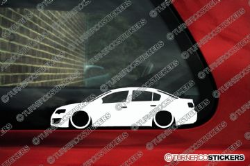 2x Low car outline stickers - for Volkswagen VW Passat R36 , B6 sedan